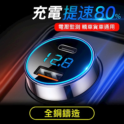 H3000電壓顯示+QC3.0 +PD 6A 雙重快速車充