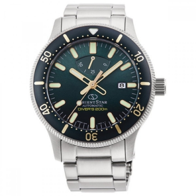 ORIENT STAR 東方之星 DIVERS 機械錶 系列 套錶贈膠帶 綠水鬼 RE-AU0307E
