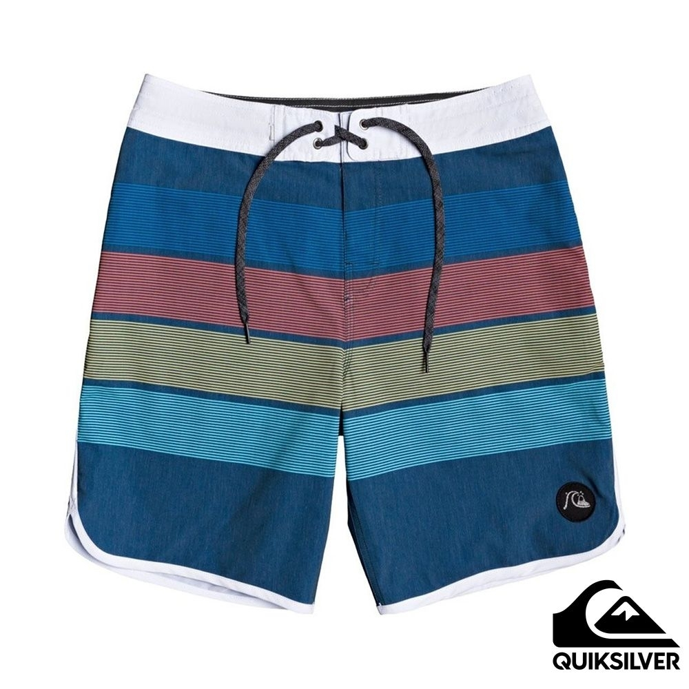 【 QUIKSILVER】SEASONS BEACHSHORT 19 衝浪休閒褲 海軍藍