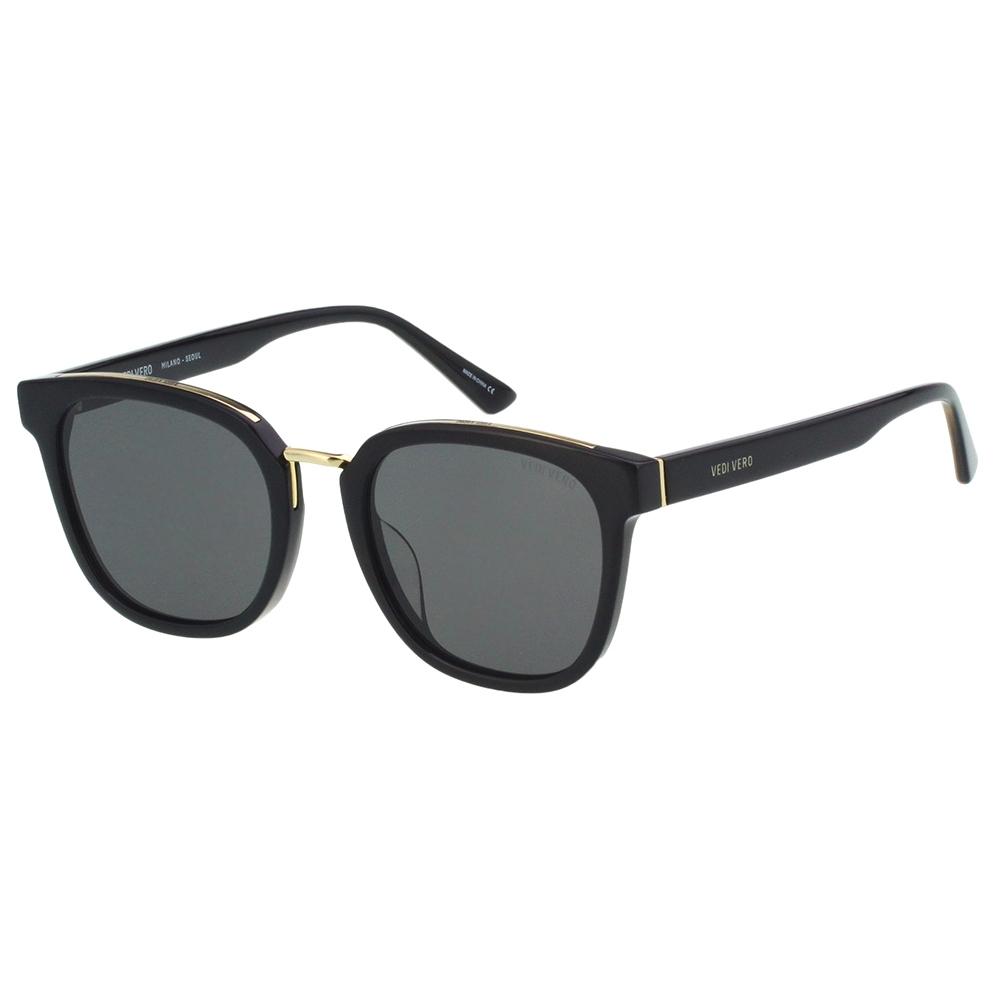 VEDI VERO 平面鏡片 太陽眼鏡 (黑配金)