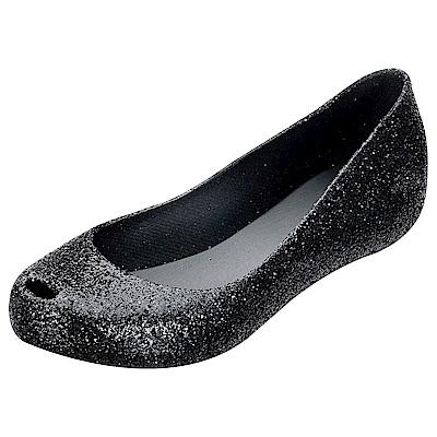 MELISSA 閃亮經典魚口鞋-黑