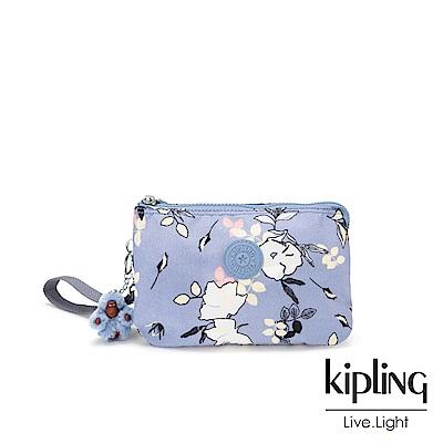 Kipling 柔雅花卉三夾層配件包-CREATIVITY XL