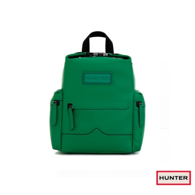 HUNTER - ORIGINAL上方開扣橡膠塗層皮革迷你後背包 - 綠