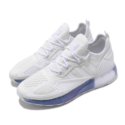 adidas 休閒鞋 ZX 2K BOOST 襪套式 男鞋 愛迪達 三葉草 反光 緩震 球鞋穿搭 白 藍 FV2928