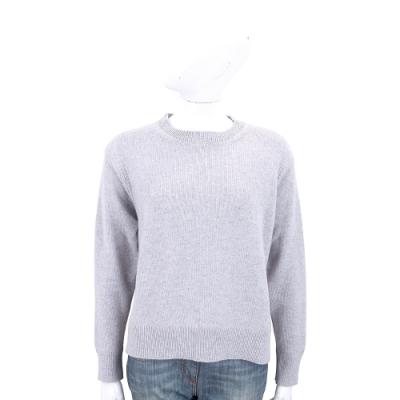 Andre Maurice 喀什米爾灰色織紋拼接設計羊毛衫