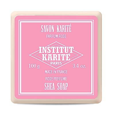 Institut Karite Paris巴黎乳油木玫瑰皇后花園香氛手工皂100g