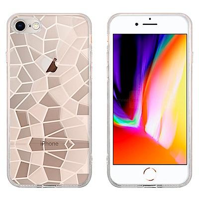 Metal-Slim Apple iPhone 7/8 3D鑽石透明TPU保護殼