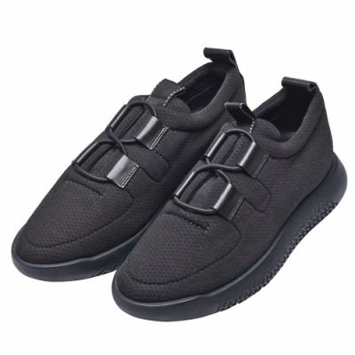 HERMES Team sneaker經典H LOGO橡膠鞋底運動鞋(黑)