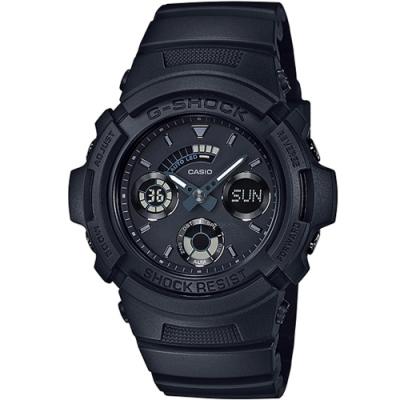 CASIO 卡西歐 G-SHOCK  雙顯式設計運動錶(AW-591BB-1A)黑