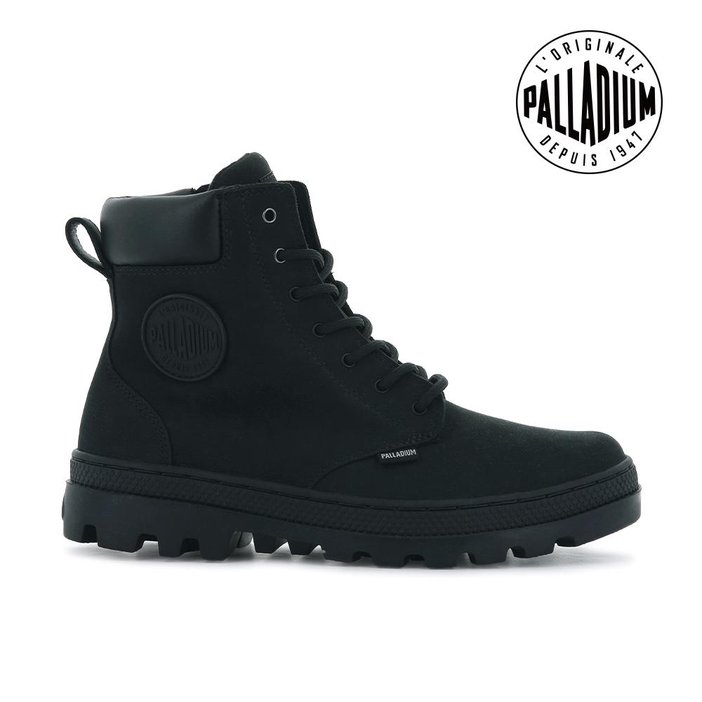 PALLADIUM PALLABOSSE SC ZIP WP+皮革拉鍊防水靴-女-黑