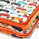 嬰兒毯寶寶毯-La Millou 暖膚豆豆毯-法鬥噗噗車(葡萄柚橙橘)