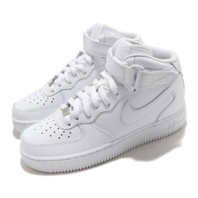 Nike 休閒鞋 Air Force 1 07 Mid 女鞋 經典款 AF1 皮革 質感 簡約 球鞋 穿搭 白 DD9625100