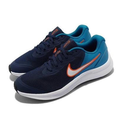 Nike 慢跑鞋 Star Runner 3 GS 女鞋  輕量 透氣 舒適 避震 大童 穿搭 藍 白 DA2776-401