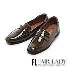 Fair Lady 有一種喜歡是早秋-復古經典漆皮樂福鞋 綠
