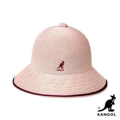 KANGOL-TROPIC STRIPE 鐘型帽-暗粉紅色