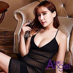Angel天使 睡衣長裙透明款吊帶情趣內衣網紗 BP120