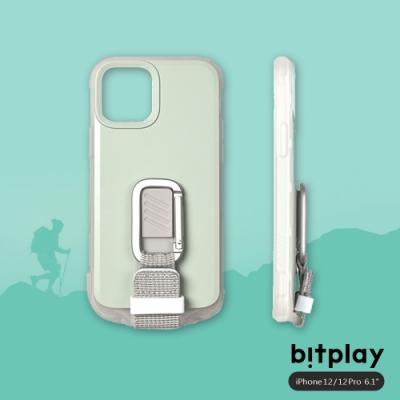 bitplay Wander Case iPhone 12/12 Pro(6.1吋)專用 獨創支架扣環掛繩軍規防摔立扣殼▲淺綠