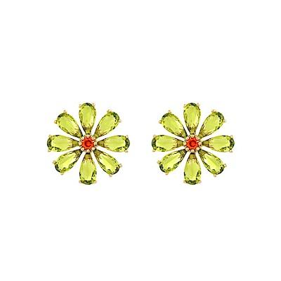 NOONOO FINGERS 橄欖色花 耳環