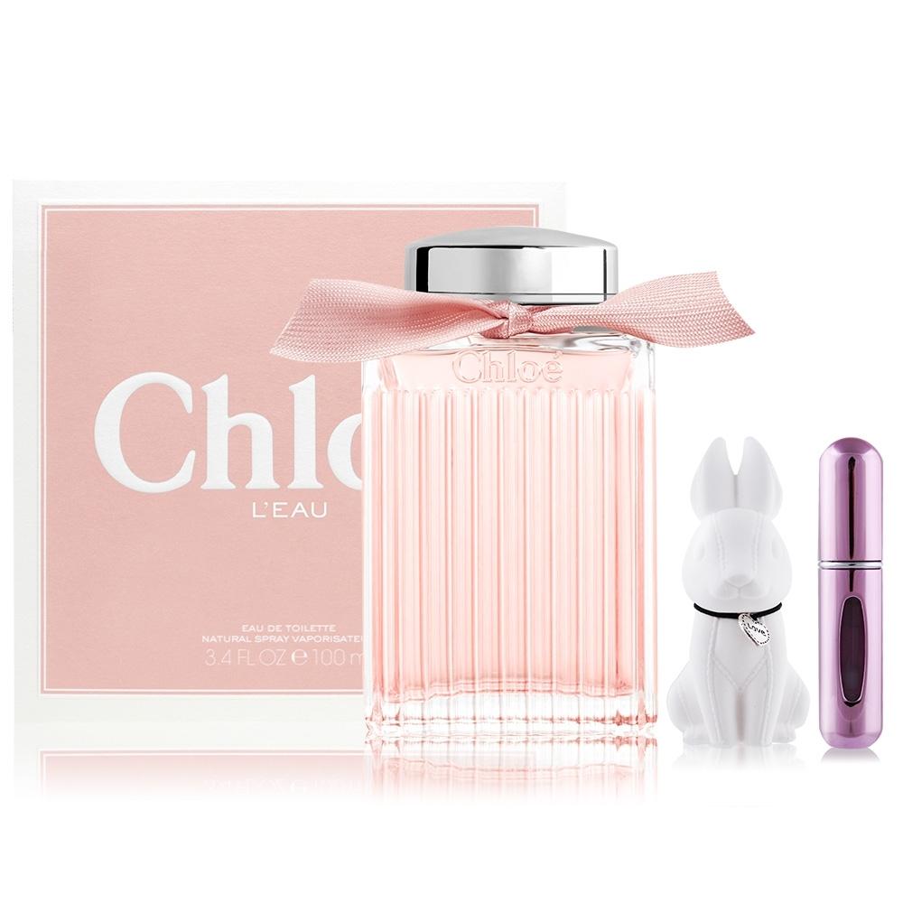 Chloe' L'EAU 粉漾玫瑰女性淡香水100ml EDT+贈擴香石&分裝瓶(隨機) 星玉蘭香氣首度登場