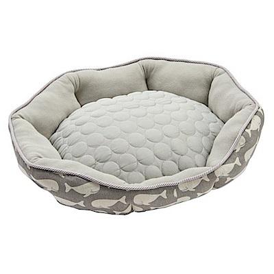 日本MARUKAN 犬貓涼感舒適睡床MK-DP-232(灰色)M號