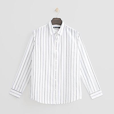 Hang Ten - 男裝 - 條紋學院風襯衫 - 白