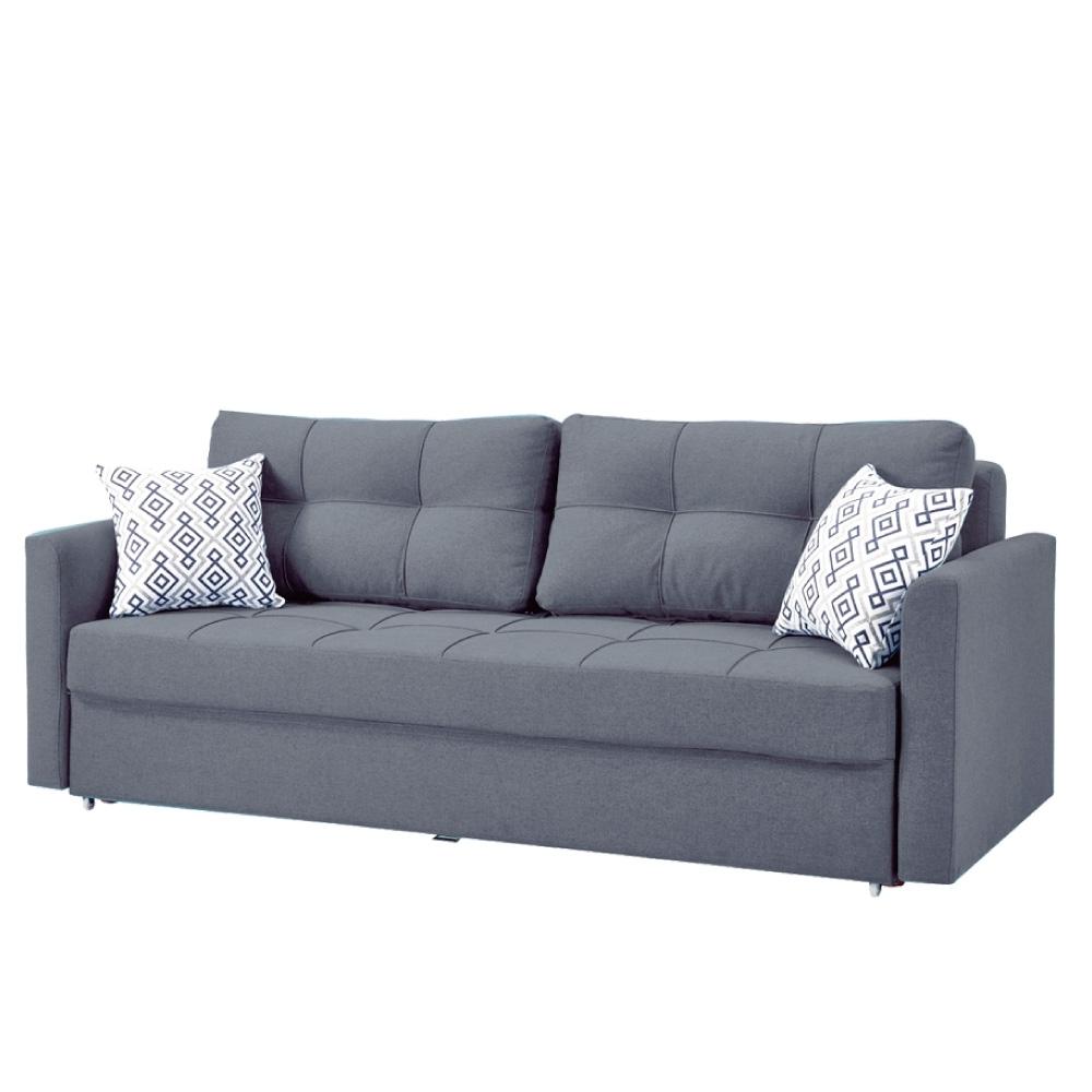 文創集 貝多三人座沙發床(純粹木語+展開&拉合式+兩色)-216x95x88cm免組