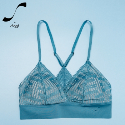 S by sloggi 高端系列蕾絲精品無鋼圈背心型內衣 礦石藍 88-32188