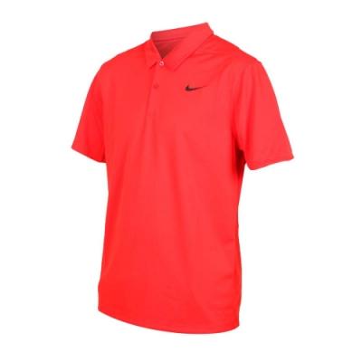 NIKE GOLF GOLF 男針織短袖POLO衫-短袖上衣 高爾夫 慢跑 紅黑
