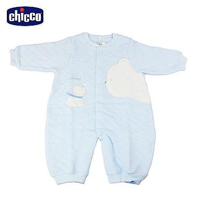 chicco-夾棉妙妙裝-藍(3-12個月)