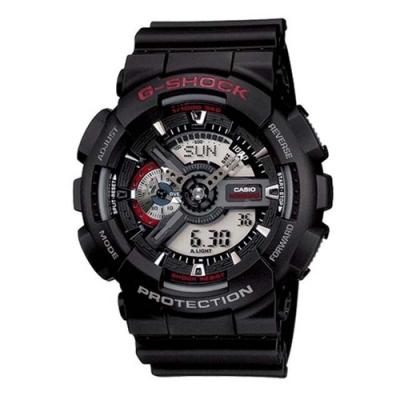 CASIO卡西歐G-SHOCK紅黑限量版工業裝置-黑紅色(GA-110-1A)