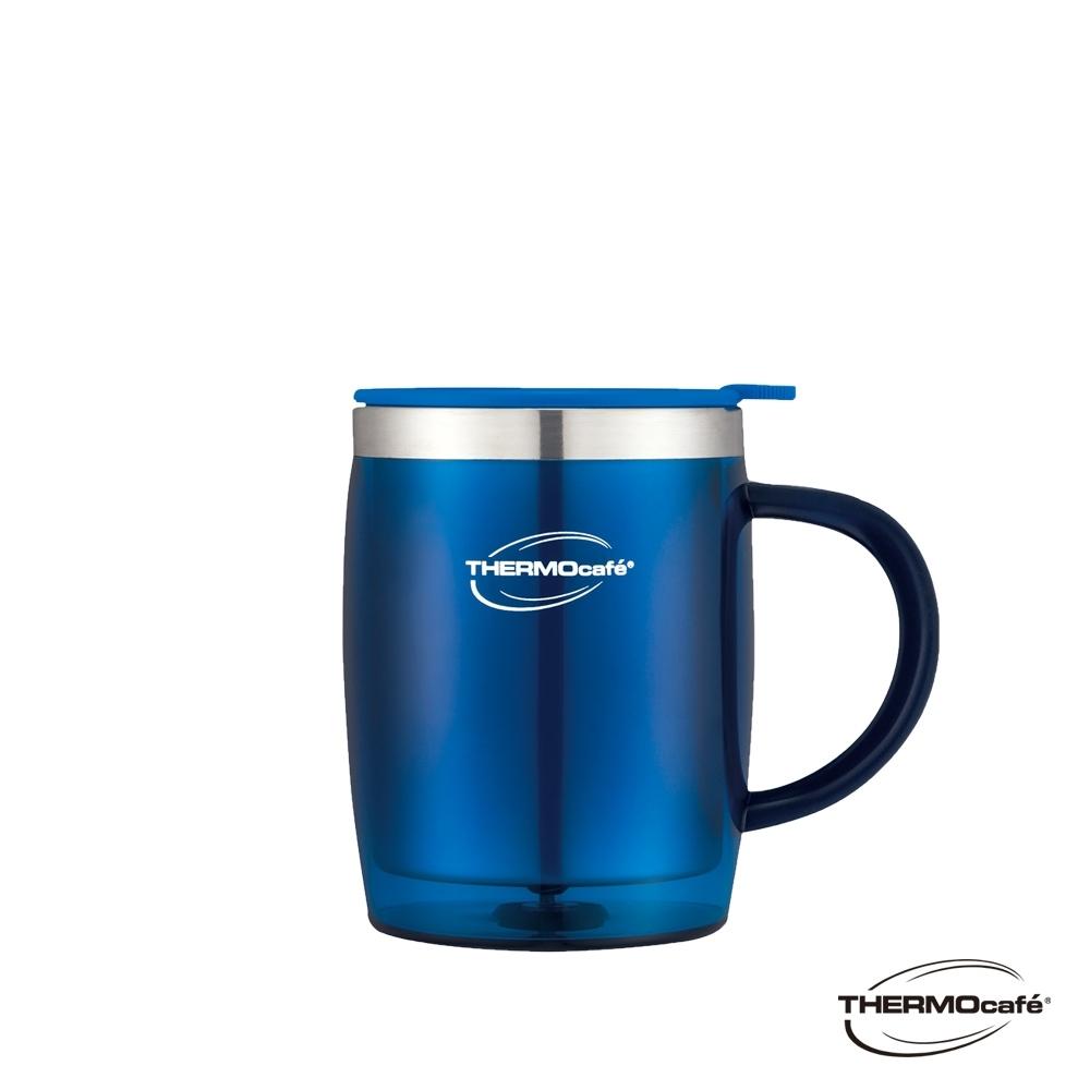 THERMOcafe凱菲 不鏽鋼真空隔溫杯0.35L(DOM-350SH-BL)