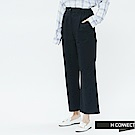 H:CONNECT 韓國品牌 女裝-後鬆緊打摺寬褲-藍