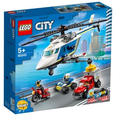樂高LEGO 城市系列 - LT60243 警察直升機追擊戰