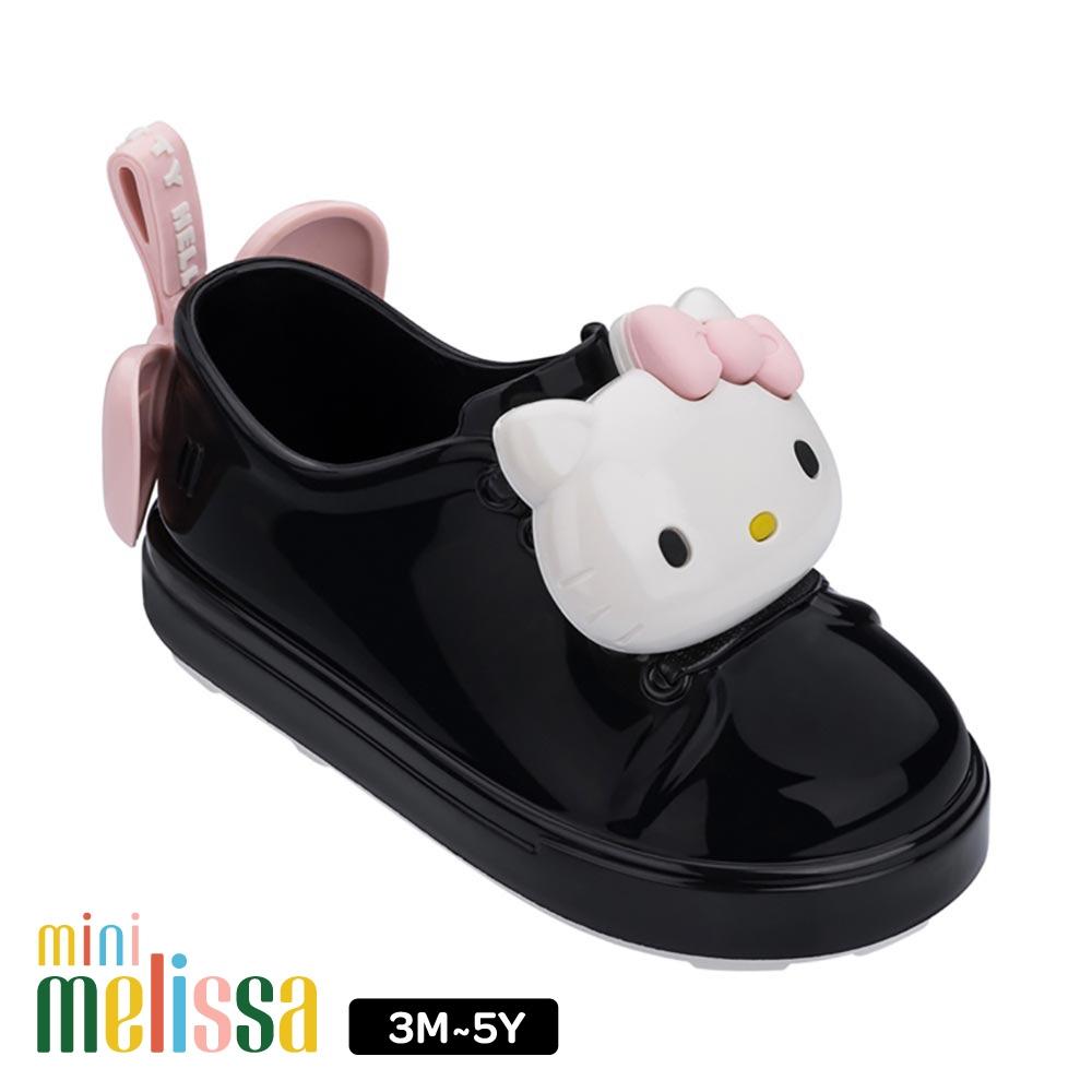 Melissa HelloKitty 蝴碟結裝飾休閒鞋 寶寶款 黑