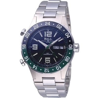 BALL WATCH Roadmaster Marine GMT 瑞士天文台認證機械錶(DG3030B-S2C-BK)黑x綠-40mm