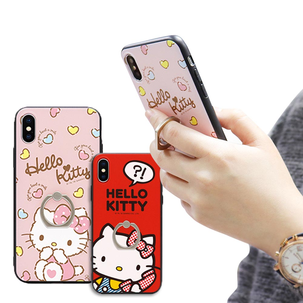 iStyle iPhone X/XS 5.8 Hello Kitty 指環手機殼