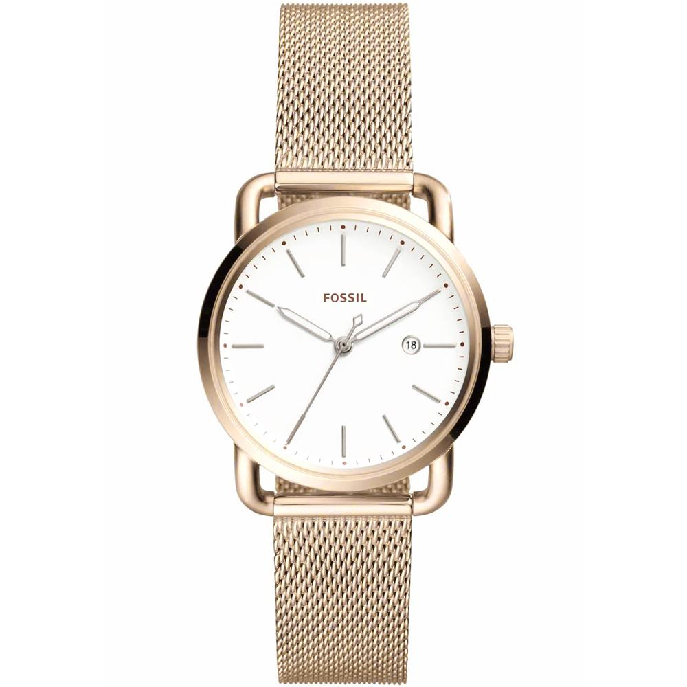 FOSSIL 愛在米蘭 氣質簡約不鏽鋼女錶(ES4349)-34mm