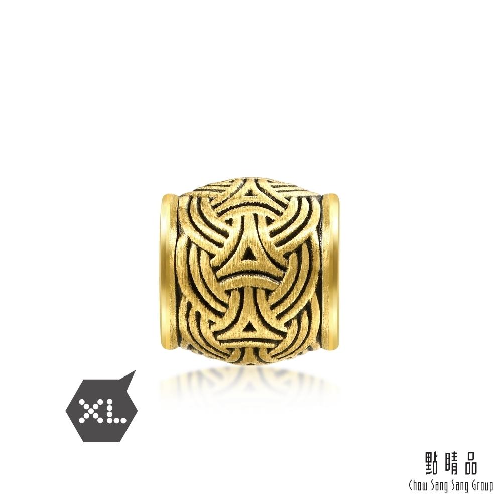 點睛品 999純金 Charme XL 維京編結 黃金串珠