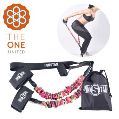 【The One】瑜珈健身 多功能懸掛健身彈力訓練帶(30磅桃紅)