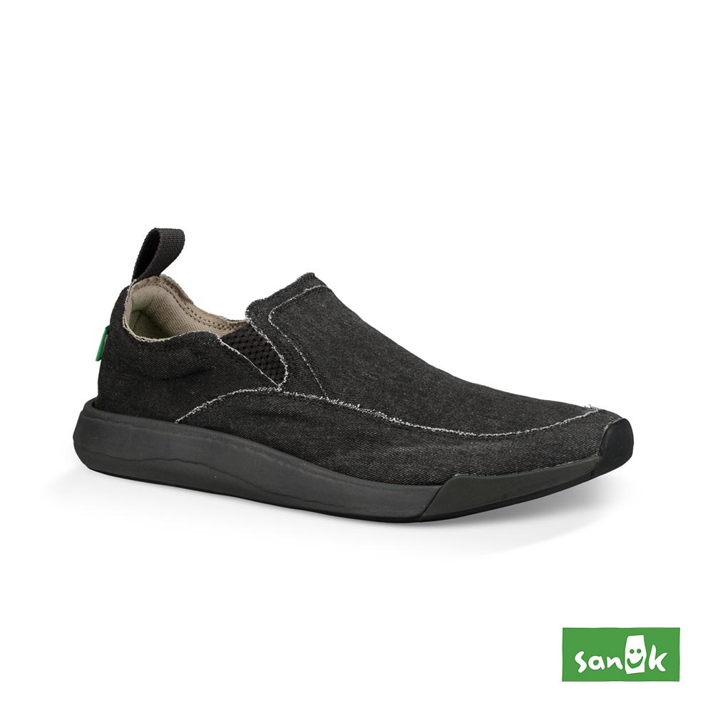 SANUK CHIBA QUEST 率性拉環設計休閒鞋-中性款(黑色)