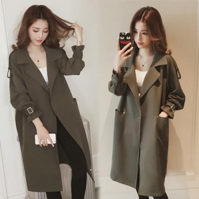 【韓國K.W.】(現貨) 百搭造型風衣形外套