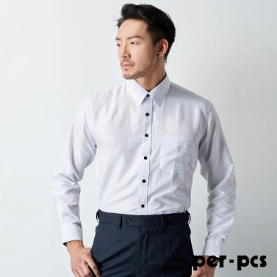 per-pcs 商務經典休閒長袖襯衫_白(719465)