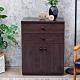Birdie南亞塑鋼-防水2.1尺二抽二門塑鋼收納櫃/窗邊置物櫃/組合櫃(胡桃色)-63x36.5x84 product thumbnail 1