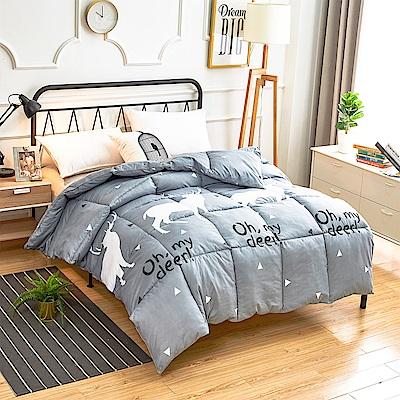 A-one - 可水洗-單人床包/雙人羽絲絨被三件組_秘密森林