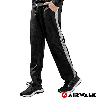 【AIRWALK】男POLY針織長褲-黑