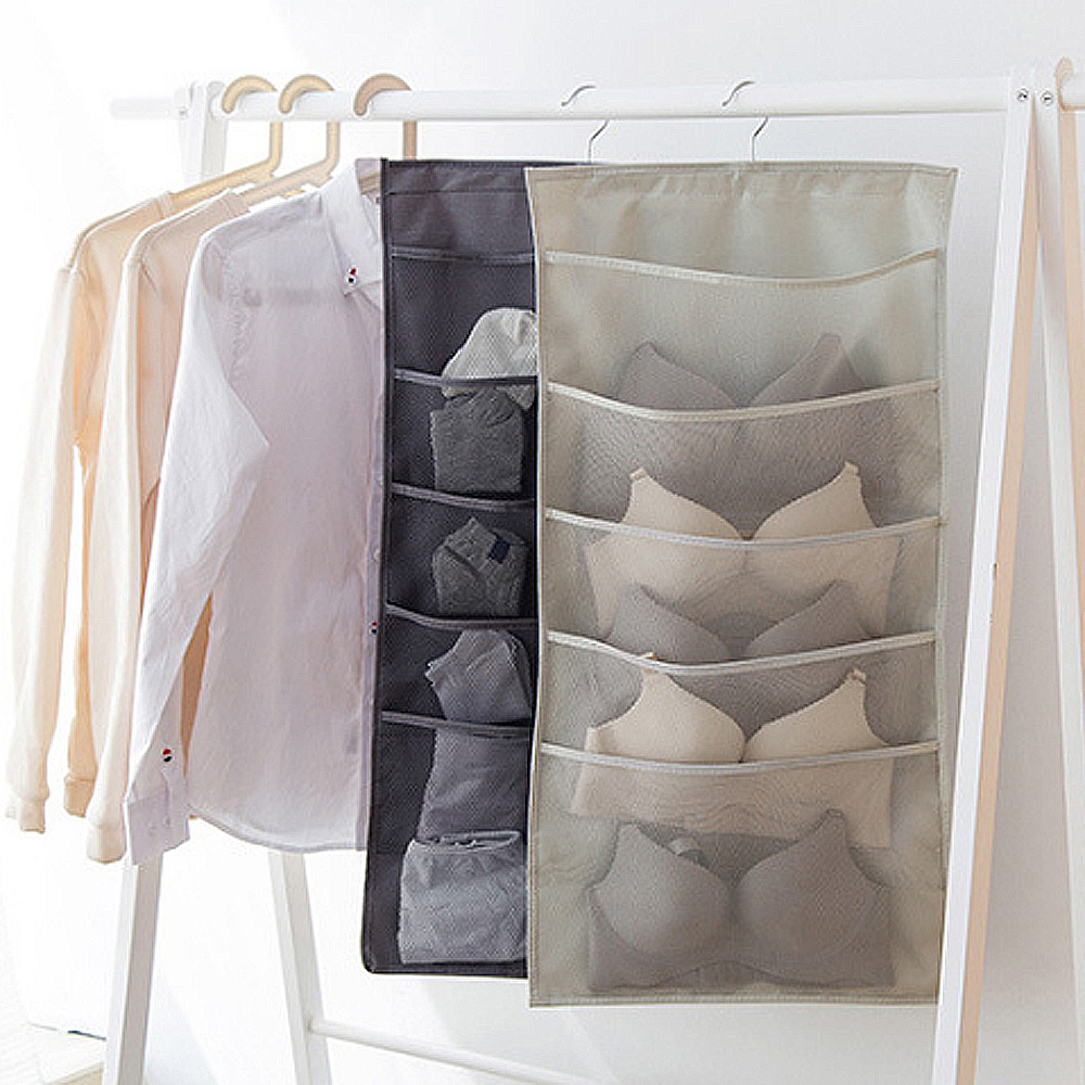 E.City 多功能雙面內衣褲襪子小物收納掛袋3件組