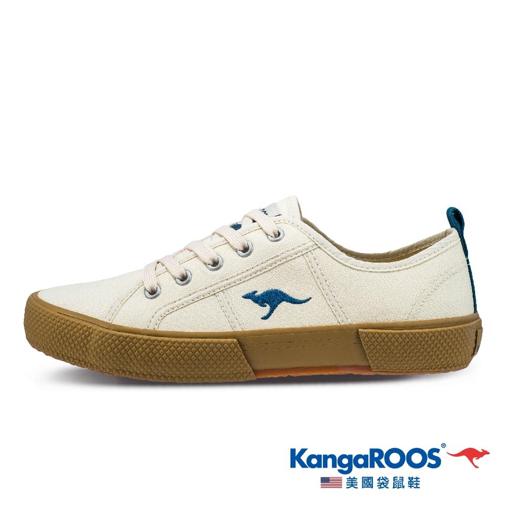 KangaROOS 女 RIPPERS LOW 帆布鞋(米黃-KW11454)