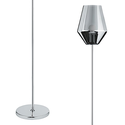 EGLO歐風燈飾 現代銀玻璃燈罩立燈/落地燈(不含燈泡)