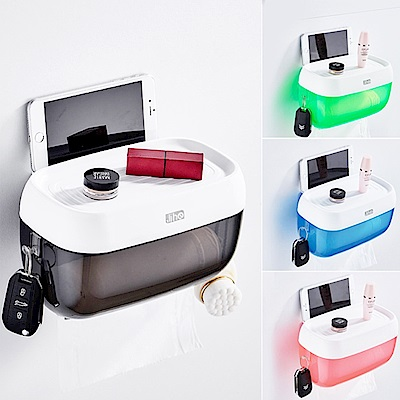 AA091 免打孔紙巾盒 抖音神器 廁所手機置物架 無痕免釘 紙巾盒 卷紙