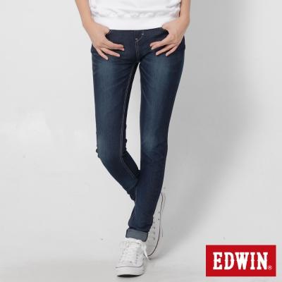 EDWIN 迦績褲JERSEYS立體剪裁牛仔褲-女-原藍磨